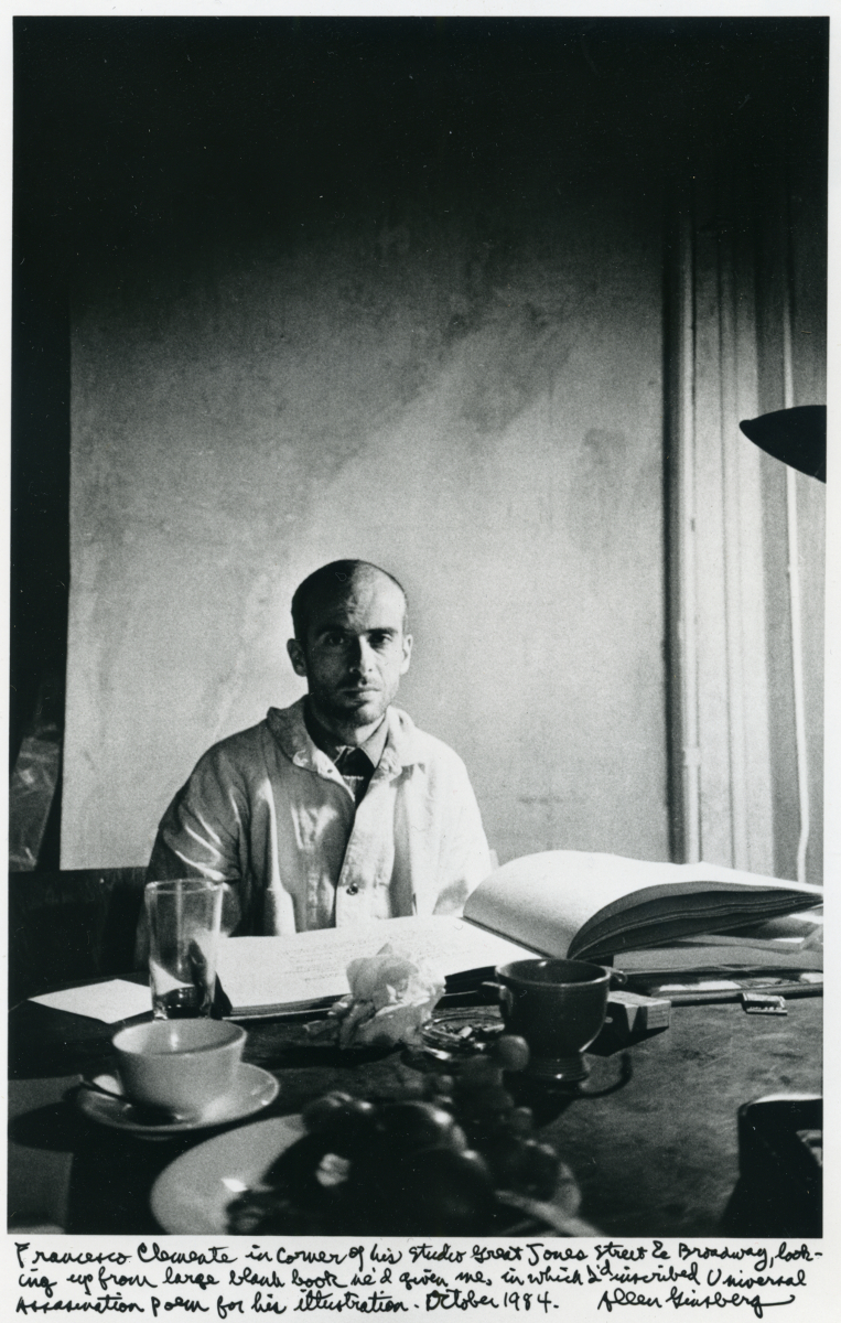 -  WHO WAS A BEAUTY ICON FOR YOU IN YOUR YOUTH?Joseph Beuys.    Photograph of Francesco Clemente by Allen Ginsberg 1984