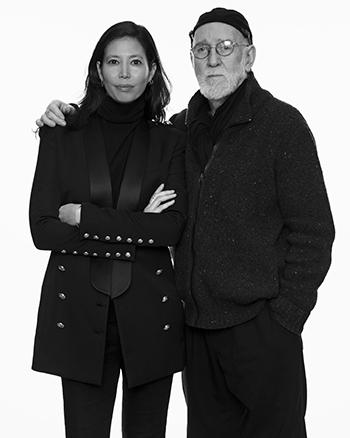 Editor-in-Chief Melissa Jones with photographer Albert Watson