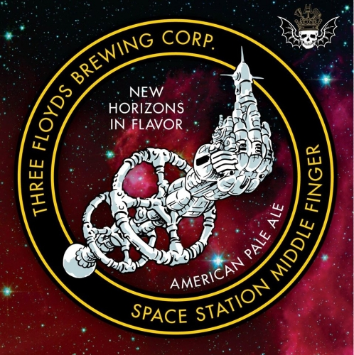 SPACE STATION MIDDLE FINGER - American Pale AleIBU 50 ABV 6%