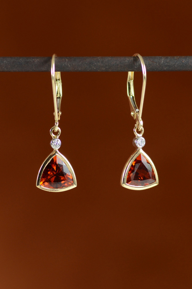 Warm toned gems - red citrine, Mexican fire opal, orange sapphire, oh my!