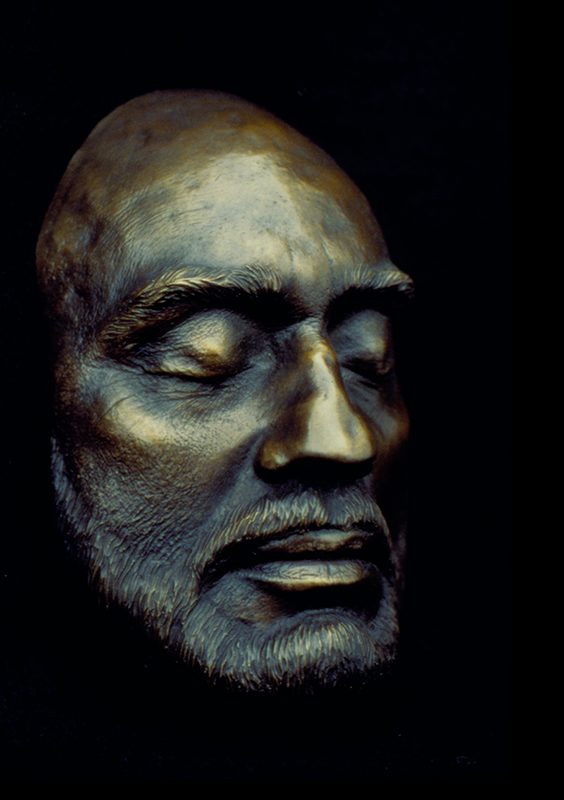 Bronze life cast of Richard Flottemesch