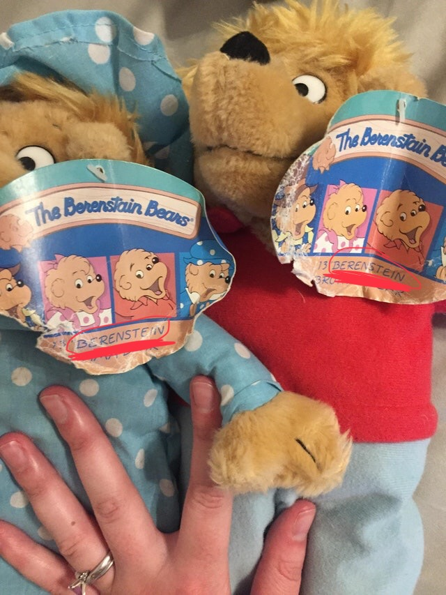 The Mandela Effect:Berenstain vs. Berenstein Bears - https://www.reddit.com/r/mildlyinteresting/comments/70kacs/my_best_friend_found_this_tag_when_they_were/