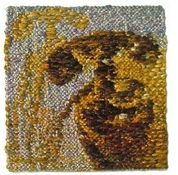 Lunning Farm Telephone, 1974. Wool, linen, cotton, 8 x 8 in. Minneapolis Institute of Art, MN.