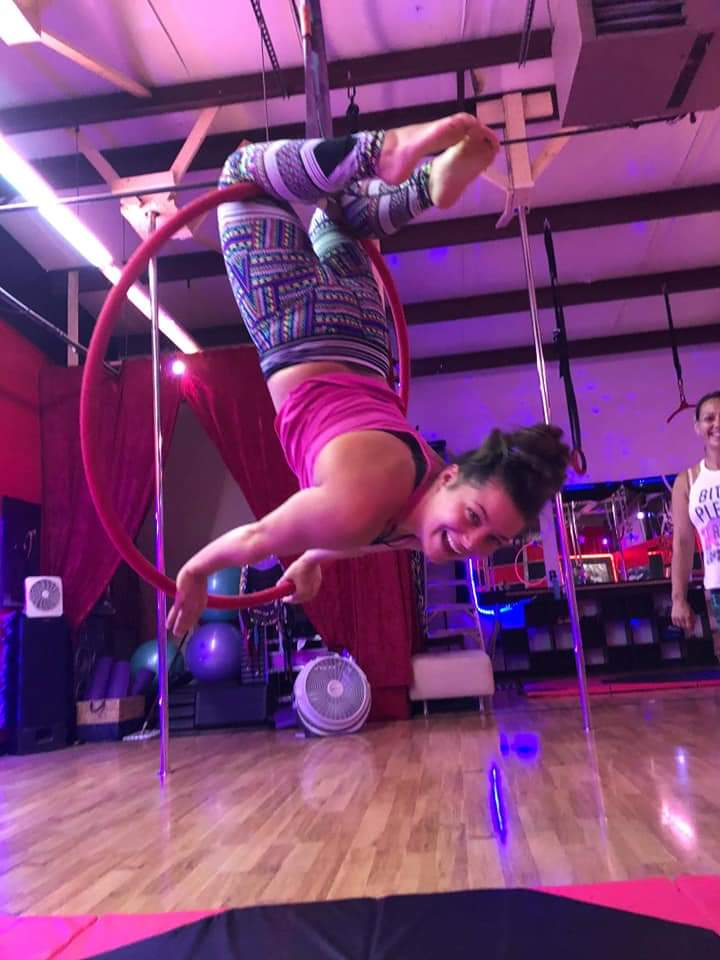 Aerial Parties - Aerial Party - $225 Includes 90 min of Aerial instruction (on both Silks & Lyra), decorations and party games. Up to 9 guests.  Alcohol is not allowed for your safety .