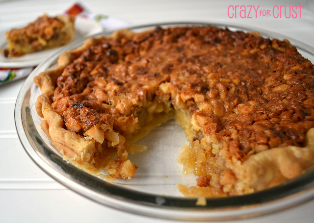 Not an actual picture of my macadamia nut pie but this is what it looked like. Everyone loved this one so much that I will include the recipe at the bottom.