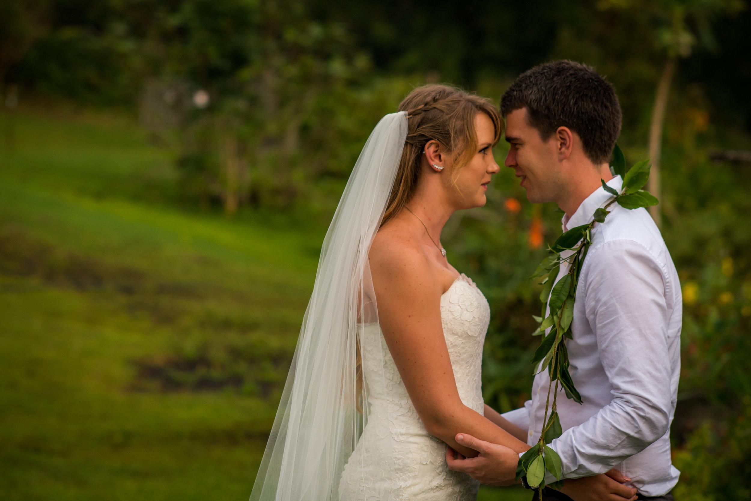Hawaii wedding first look