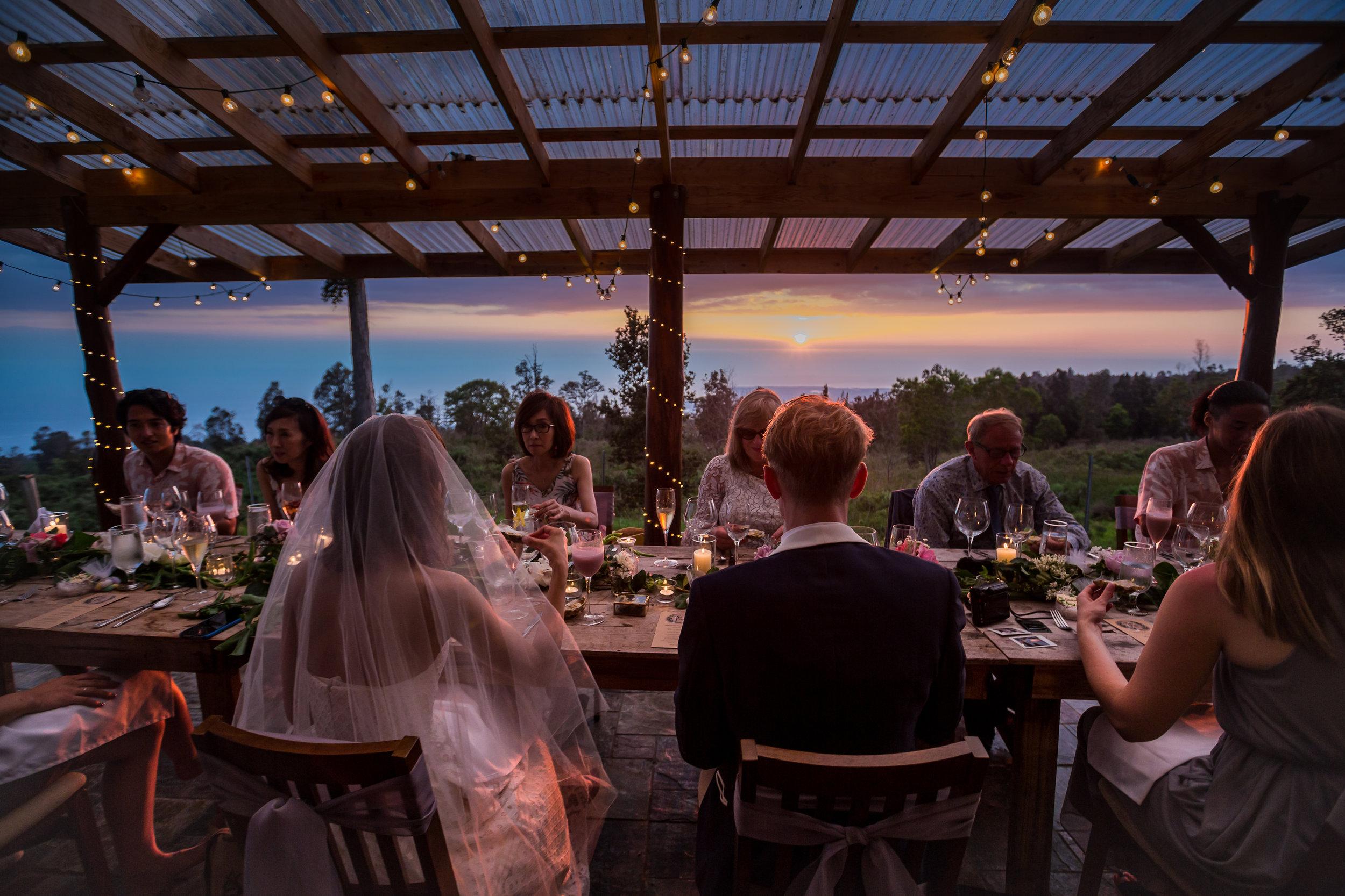 kona coffee farm outdoor wedding