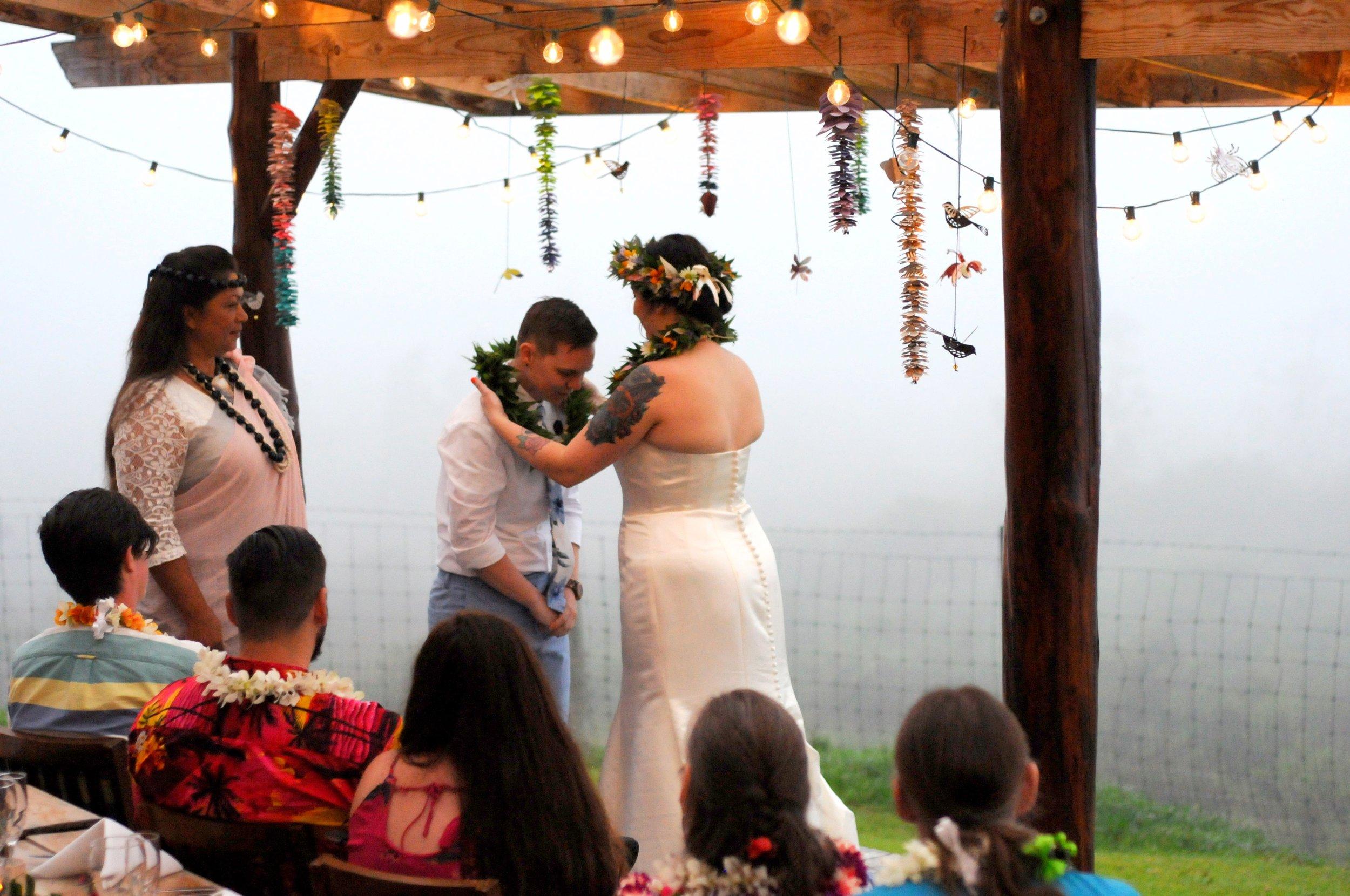 Wedding lei exchange