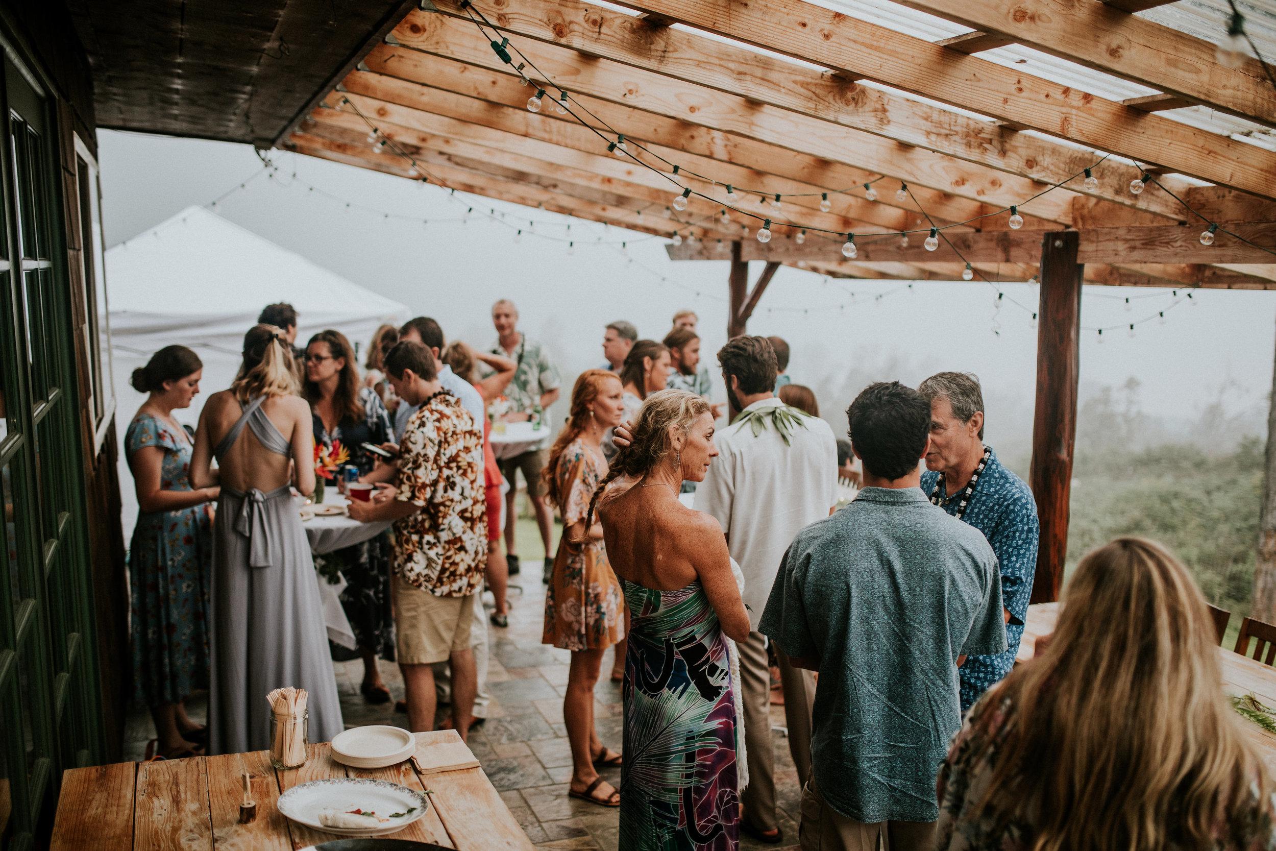 cocktail style wedding reception kona