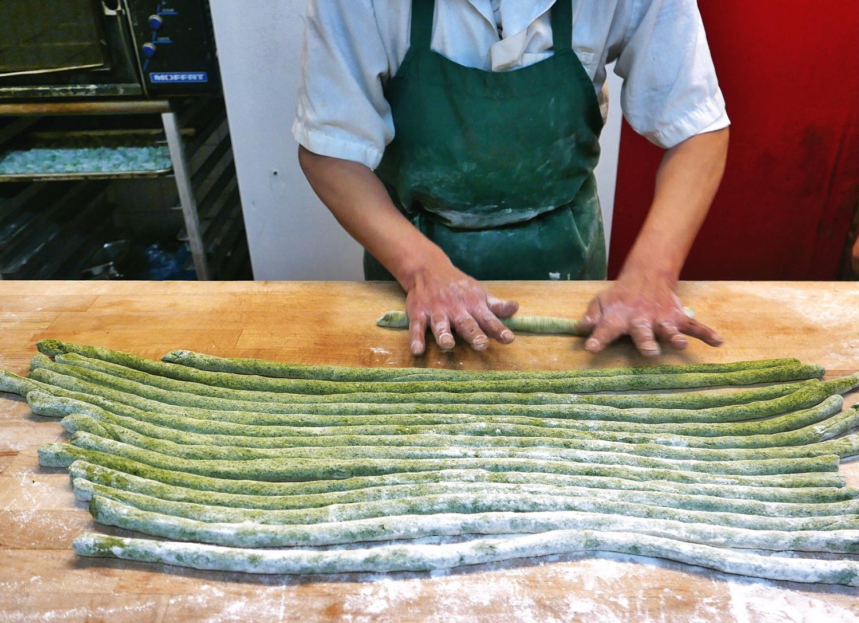 Making Handmade Fresh Kale Gnocchi