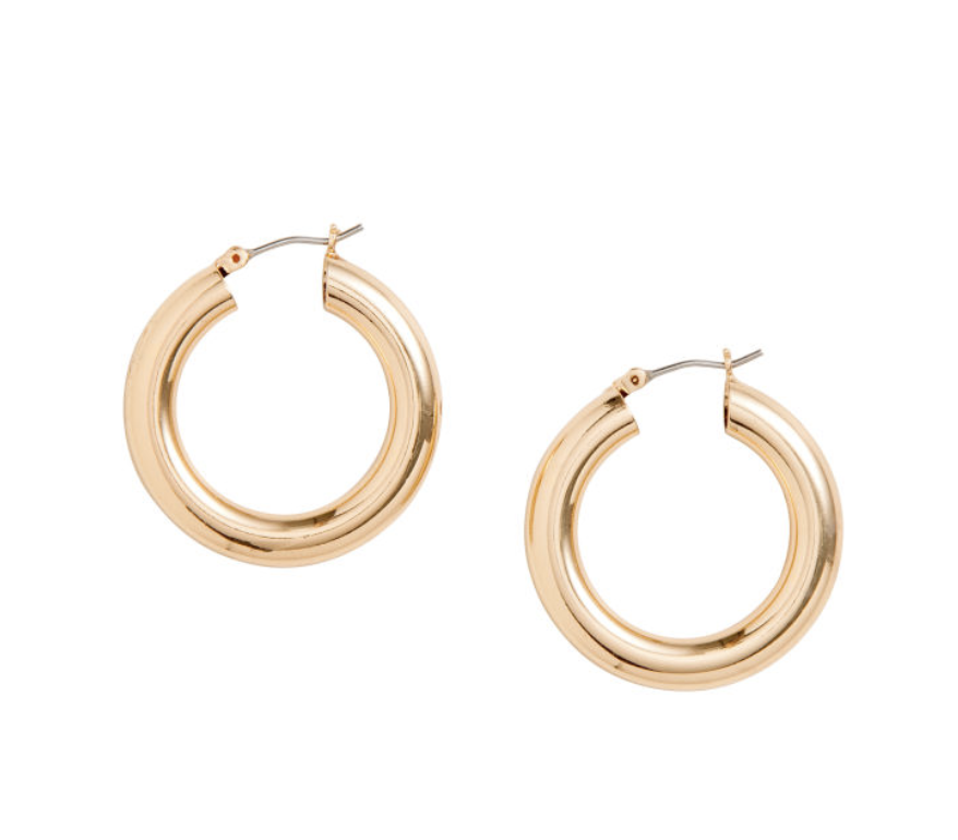 - Chunky Hoops - These are a must-have this spring. Ditch your boring studs and grab a pair of chunky gold earrings. These are classic while making a statement all in one.