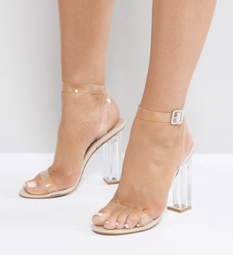 - Clear Perspex (Transparent) - This is a trend absolutely love and one that is not new but will continue on. The clear trend is huge right now with bags and shoes.