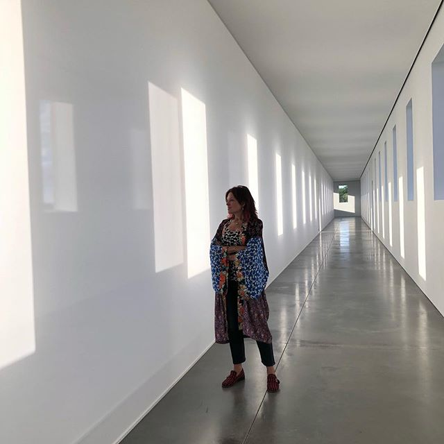 Inside Robert Irwin's installation at Chinati. Just spectacular. Thank you @chinatifoundation for being so generous with your time and so kind to me and @johnleventhal this weekend. #marfa #chinatifoundation