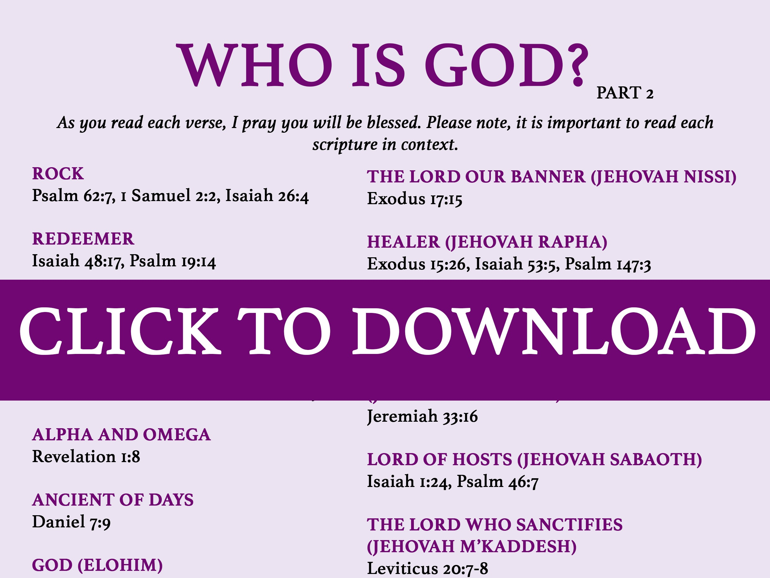 who is god in the bible