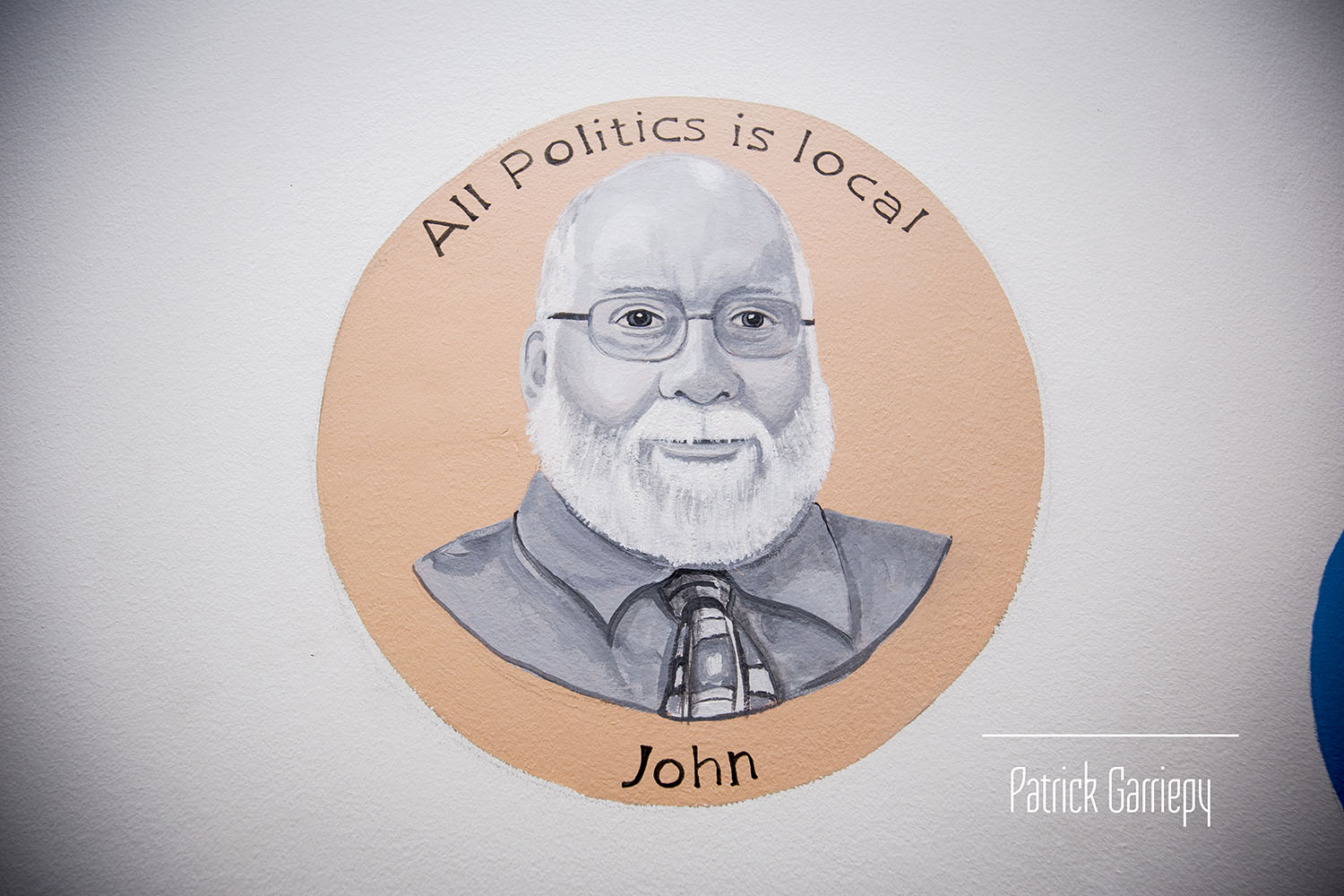 Show host John Tehan - One of multiple portraits of Milford TV personalities, painted by artist Kerry St. Pierre
