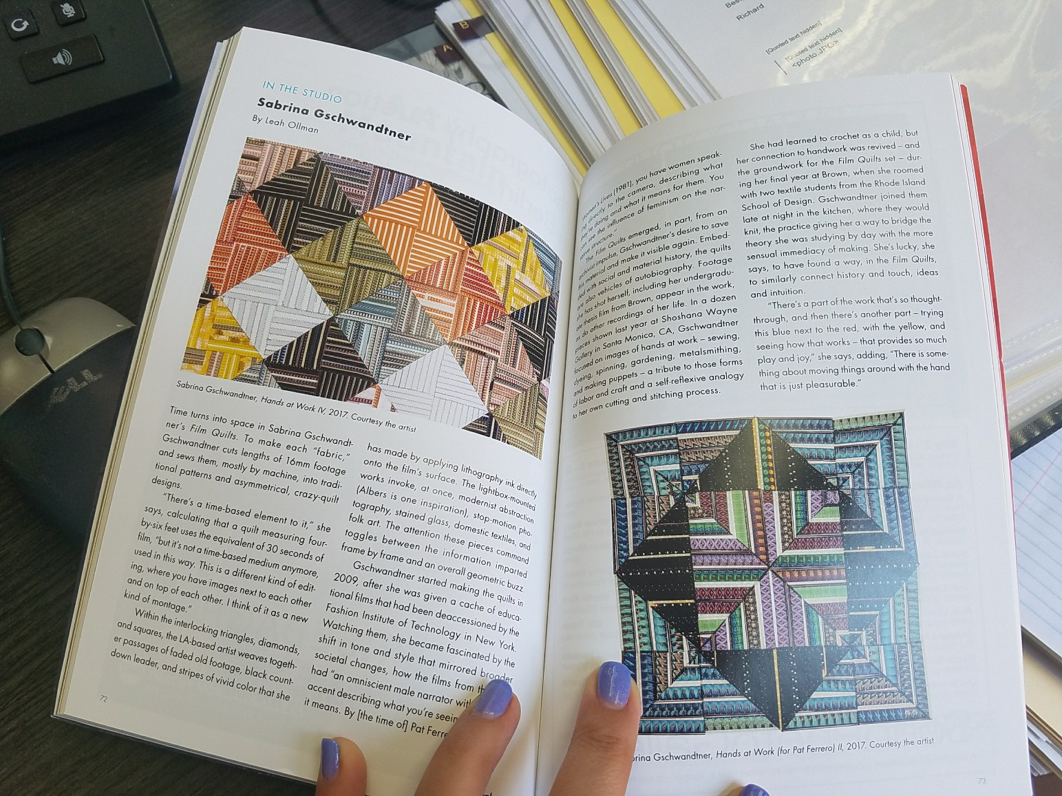 Photograph magazine article by Leah Ollman
