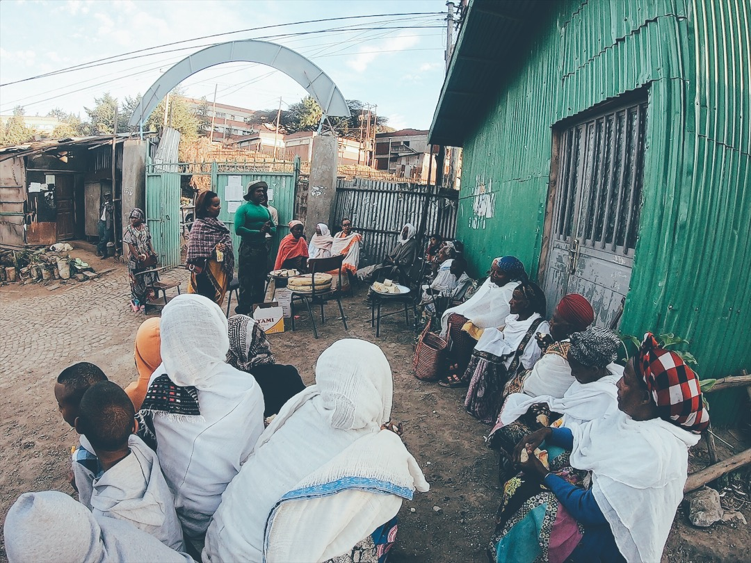 Elderly women in Ethiopia on Christmas Eve