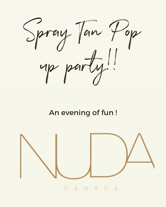 Your invited to an evening of fun! . . . Join us this Saturday August 17th from 4-6 pm as we kick off our release of @nudacanada products and spray tanning services!  Evening specials on our spray tanning! 🙌🏼 One for $25  OR bring a buddy! Two for $40  25%off NUDA Products + snacks and drinks included! 🍷🍷 Come see what fun stuff we got cooked up ✨✨ #encorearmy #bronzedbabesquad #nudacanada