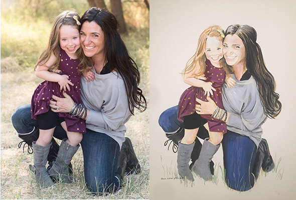 A rizona Mother and Daughter, original photo and portrait