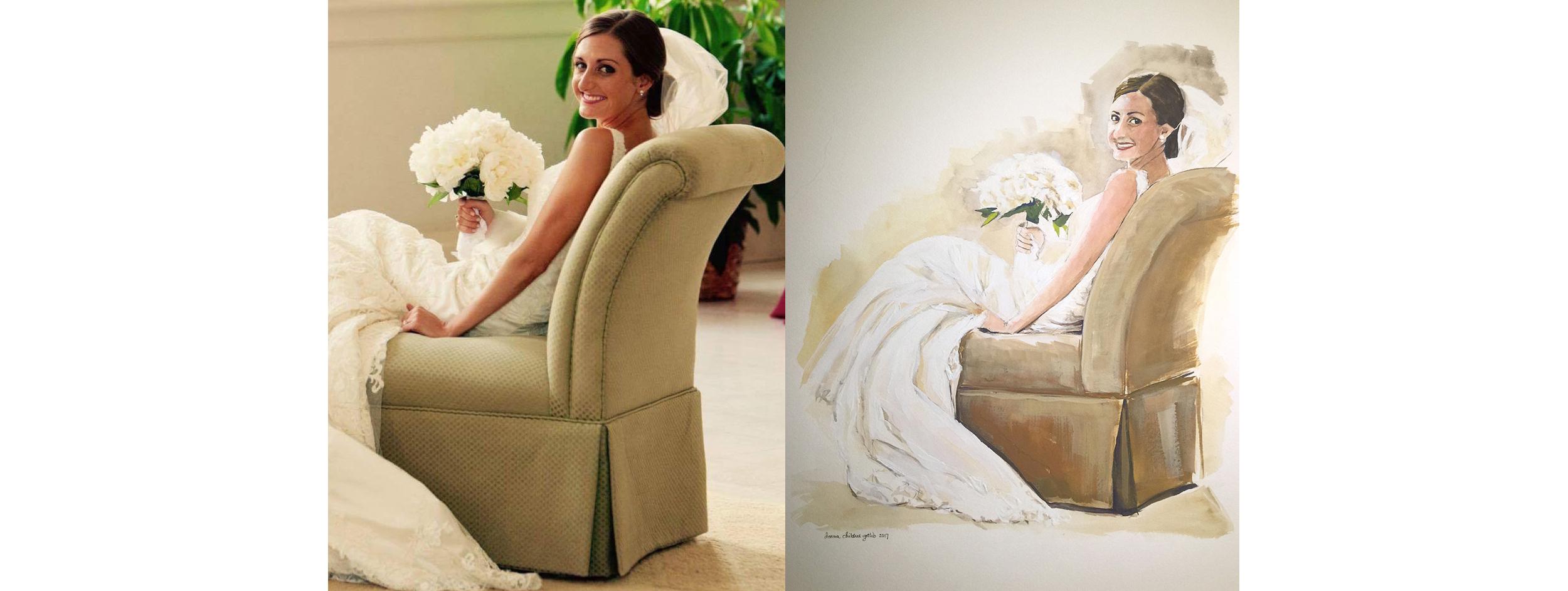Southern Bride, original photo and portrait
