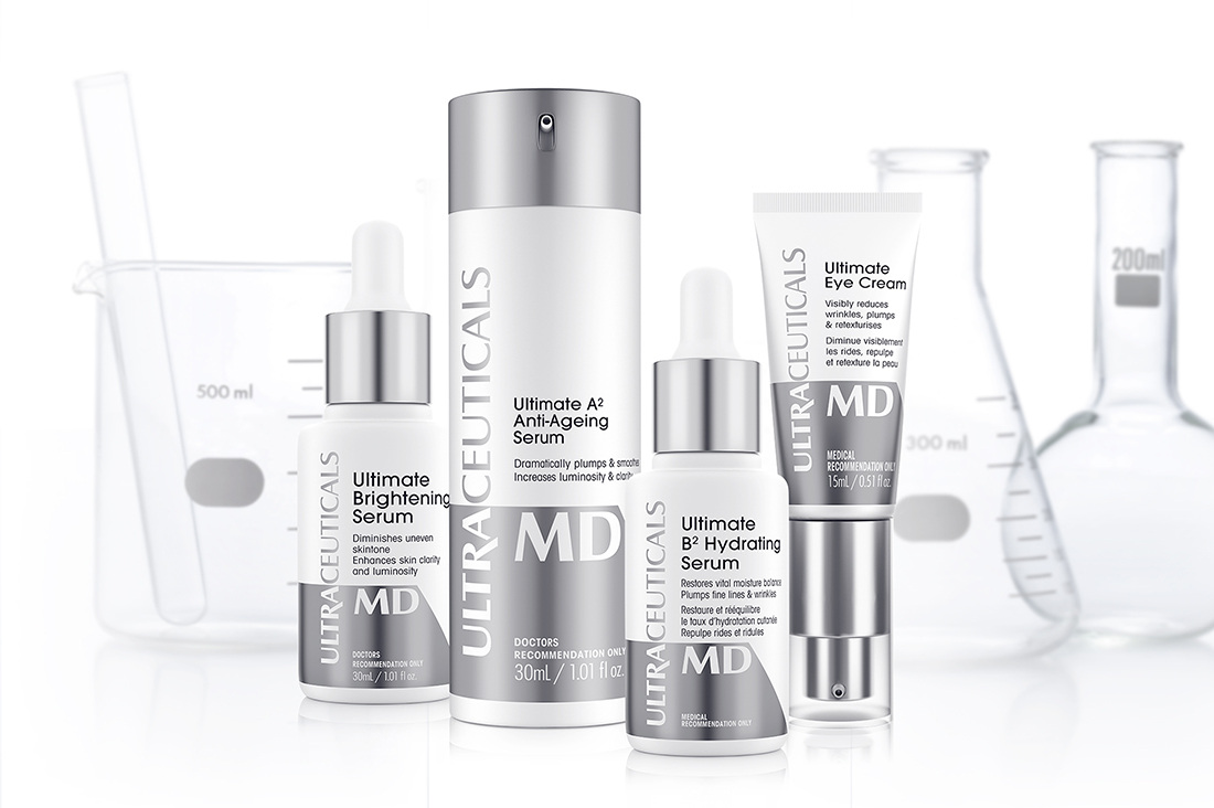 ULTRA MD SKINCARE - Available solely through cosmetic medical practices, the Ultra MD range is a result of in-house reviews of scientific literature, in-house experimentation, clinical testing and continuous improvement processes. The Ultra MD range of products was developed to address the major skin concerns of ageing and pigmentation, using high concentrations of potent ingredients in sophisticated consumer trialled formulations. The Ultra MD skincare range is the pinnacle of Ultraceuticals product development efforts. This range can only be purchased after a skin consultation. Our clinic also offers a unique, prescription depigmentation cream that will lighten the most stubborn skin discolouration and blotches associated with hormonal influences. $90. Enquire today!