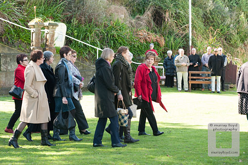 Guests being invited onto Pukekaraka Marae in Otaki..