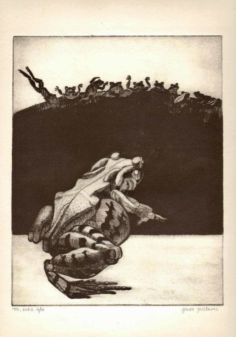 Žabja svatba   1974, suha igla, A3