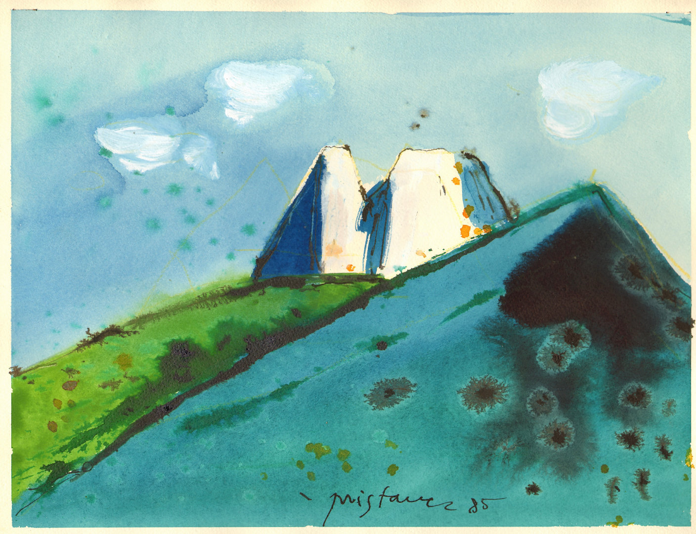 Pokrajina    1985, akril na papir, A3