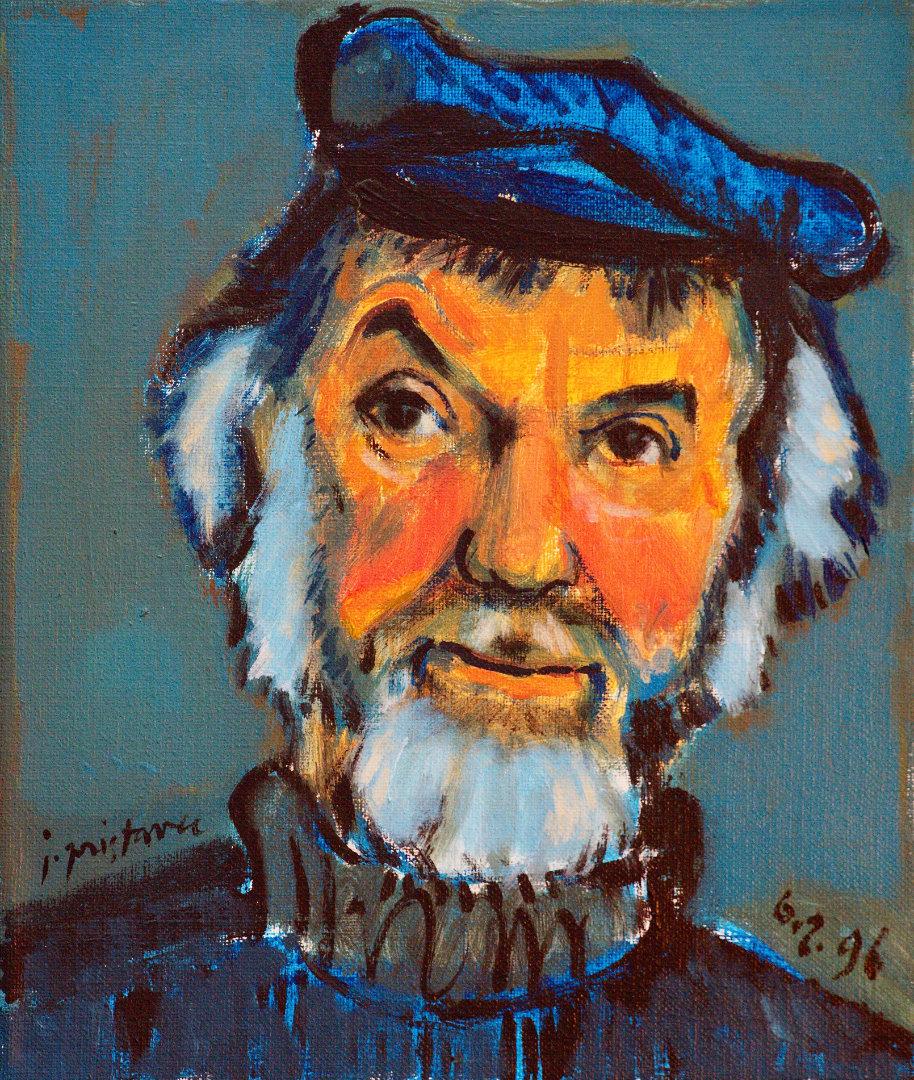 Bogdan Borčič  - iz cikla Portreti  1996, olje na platnu, 30 x35 cm