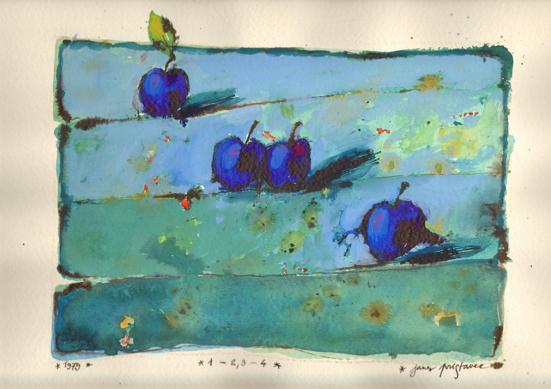 Serija akvarelov iz leta 1979   Janez Pristavec