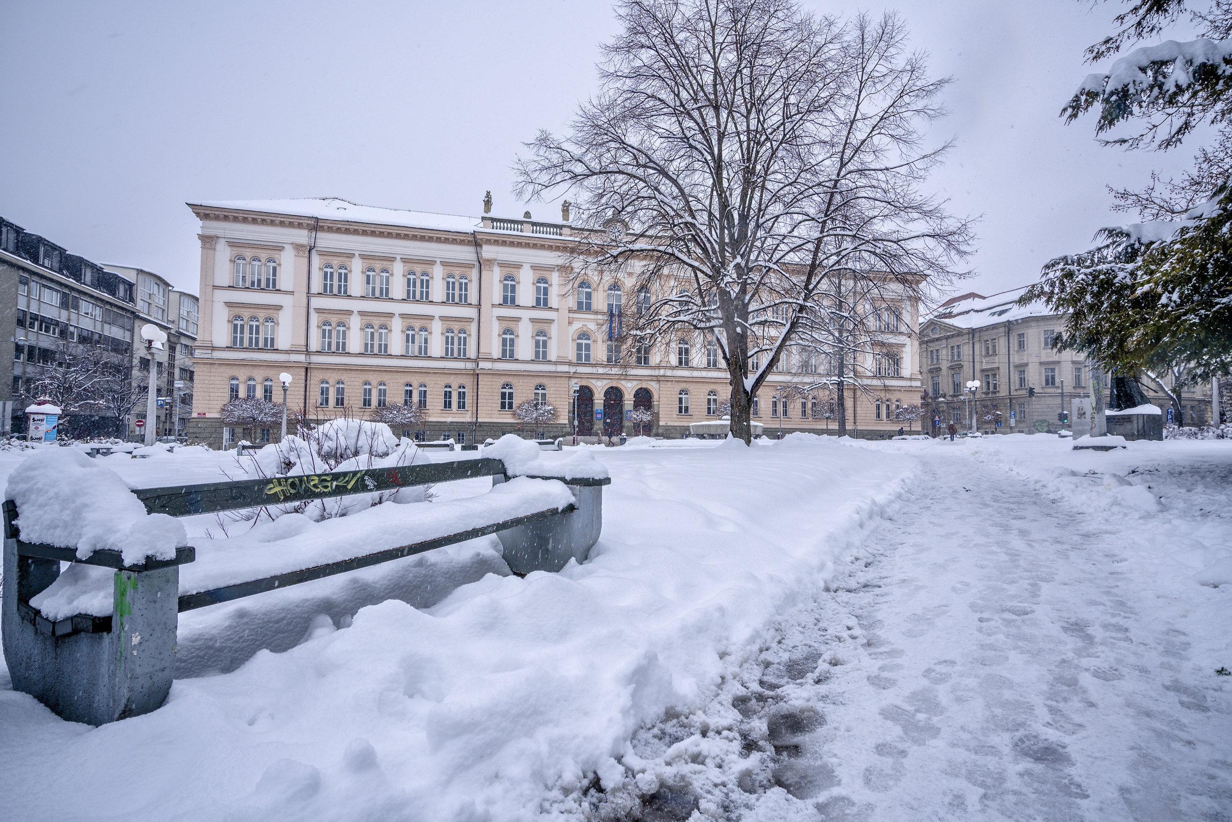 Park pred I. gimazijo Maribor ; februar 2018; sony ilce7rm3; sony fe 24 - 70