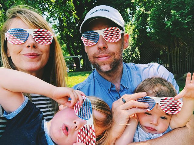 currently taking tips for how to get all four to participate in family photo props simultaneously 🤷‍♀️ // but more importantly, happy fourth to america! 🎉 may we be a nation that ages by always desiring to learn quickly and change fiercely toward love, liberty, and justice for all ♥️