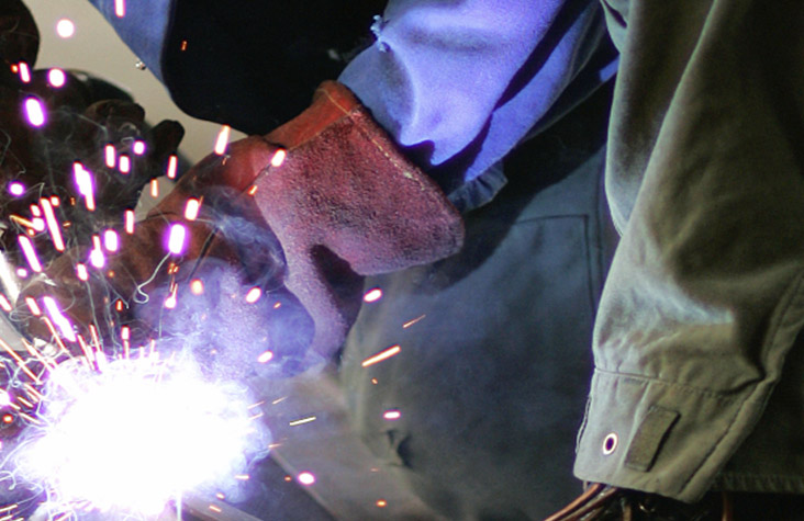 welder - Welders cut and join pieces of metal and work as machine operators who maneuver previously set-up welding, brazing and soldering equipment.