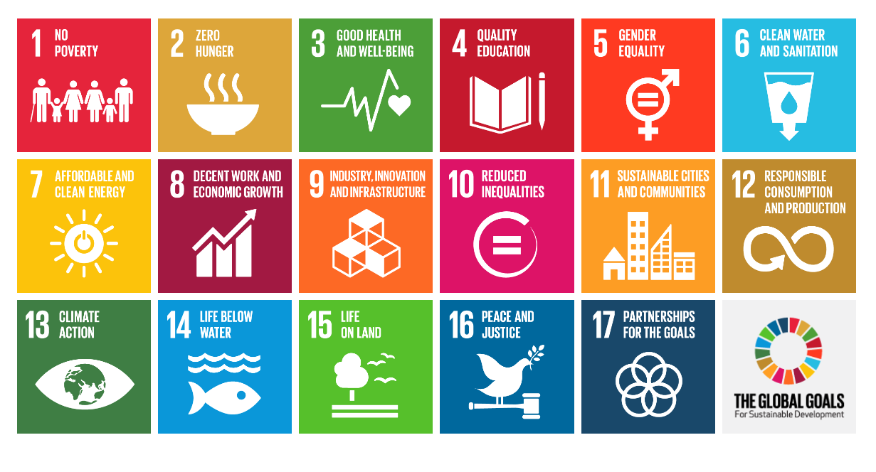 There are 17 Sustainable Development Goals as laid out by the UN