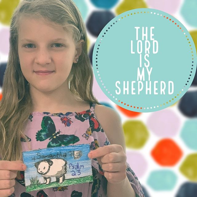 We have no reason to fear because we are not alone!Our good Shepherd is with us in every season and every situation.  #psalm23 #goliathmustfall #dckids #dccva #youbelonghere #kidsart #kidschurch