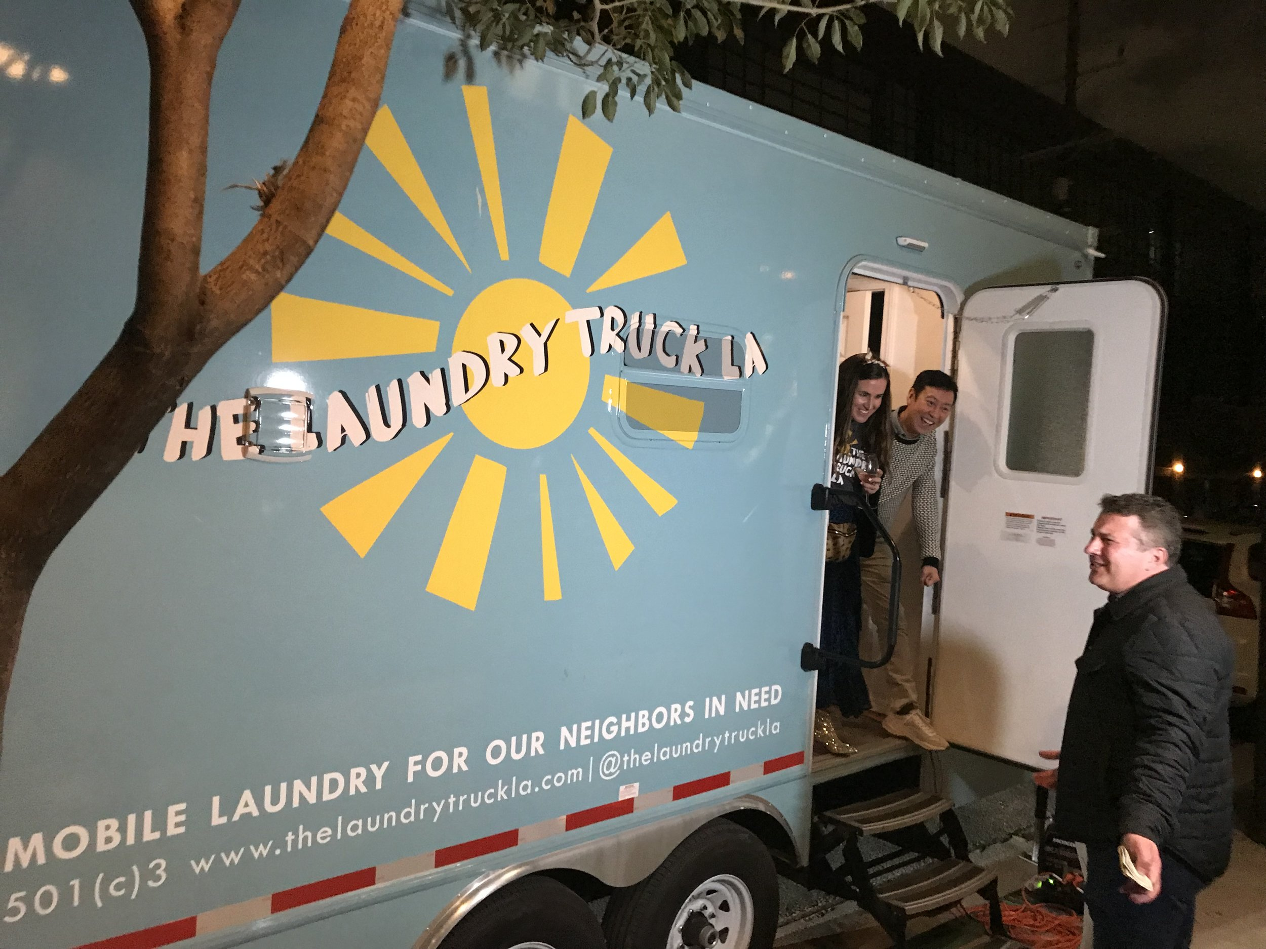 """California Apparel News  """"Dolan Brand's Laundry Truck LA Hits the Streets"""". Photo by Andrew Asch/California Apparel News."""