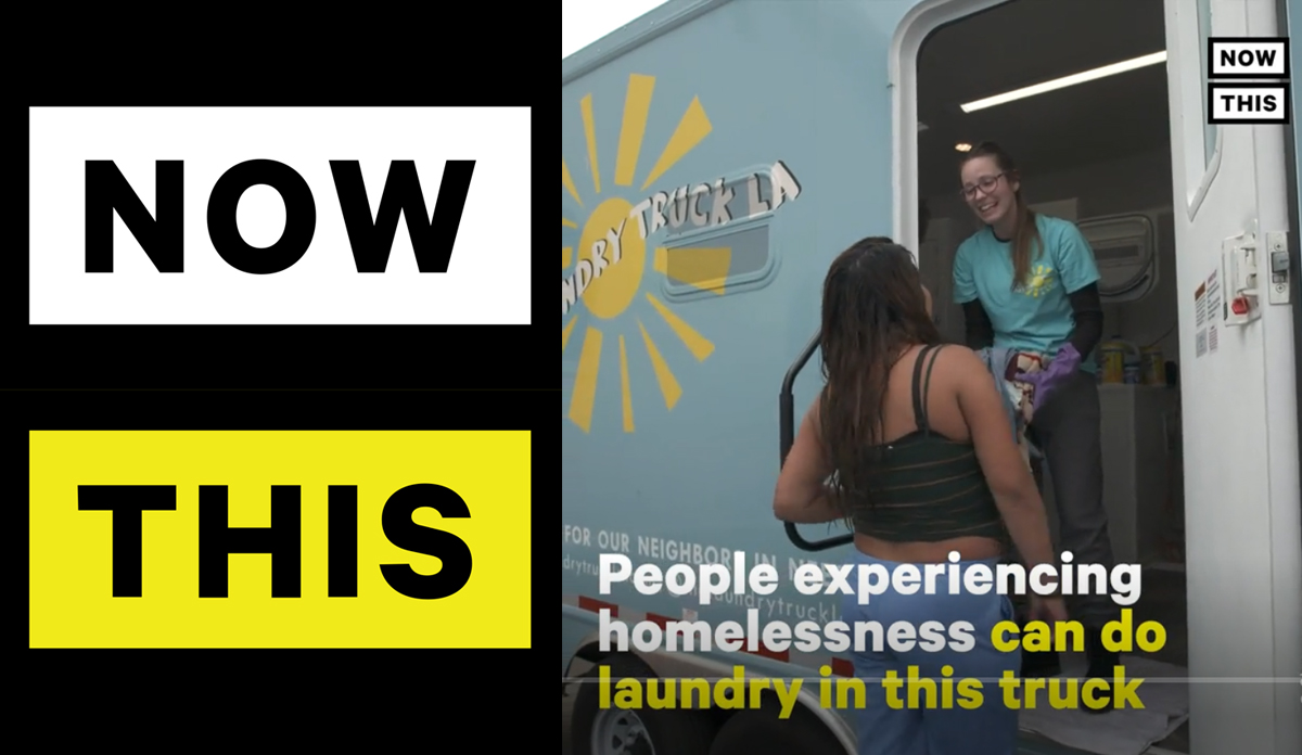 """Now This News  """"The Laundry Truck LA Does Laundry for the Homeless"""""""