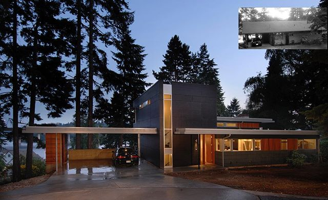 Enatai House, a complete reinvention of a 60's home in one of Bellevue's lovely neighborhoods. . . . . . #archinect #seattlearchitects #architizer #midcenturymodern #modernhome #atomicranch #pnwarchitecture #houzz #dwell #dezeen #dezeenmagazine