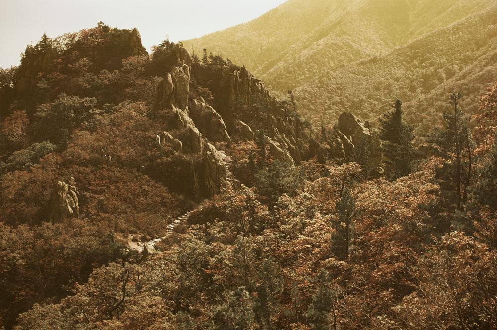 白丁基,《雪狱山秋景#5》,2012