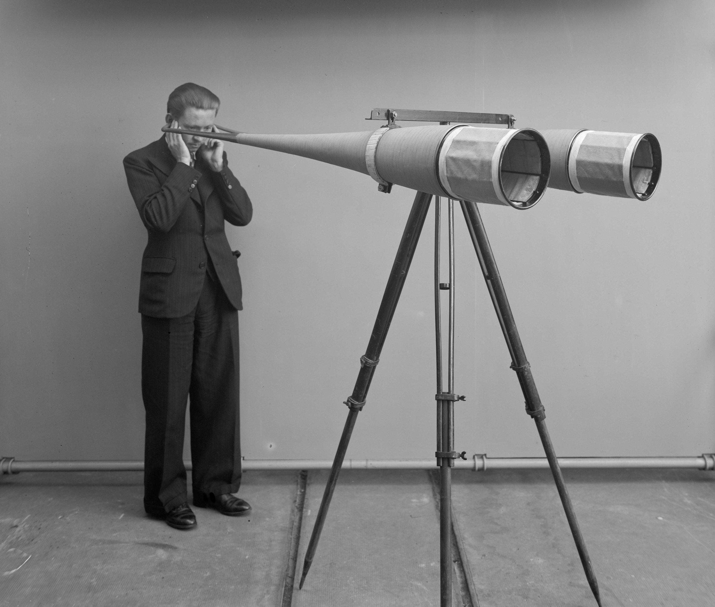 国家科学与工业研发办事处,乔治·马布布克斯的声号筒,用于航空器定位,1935年5月31日。现由法国国家科学研究中心收藏,A_3264。