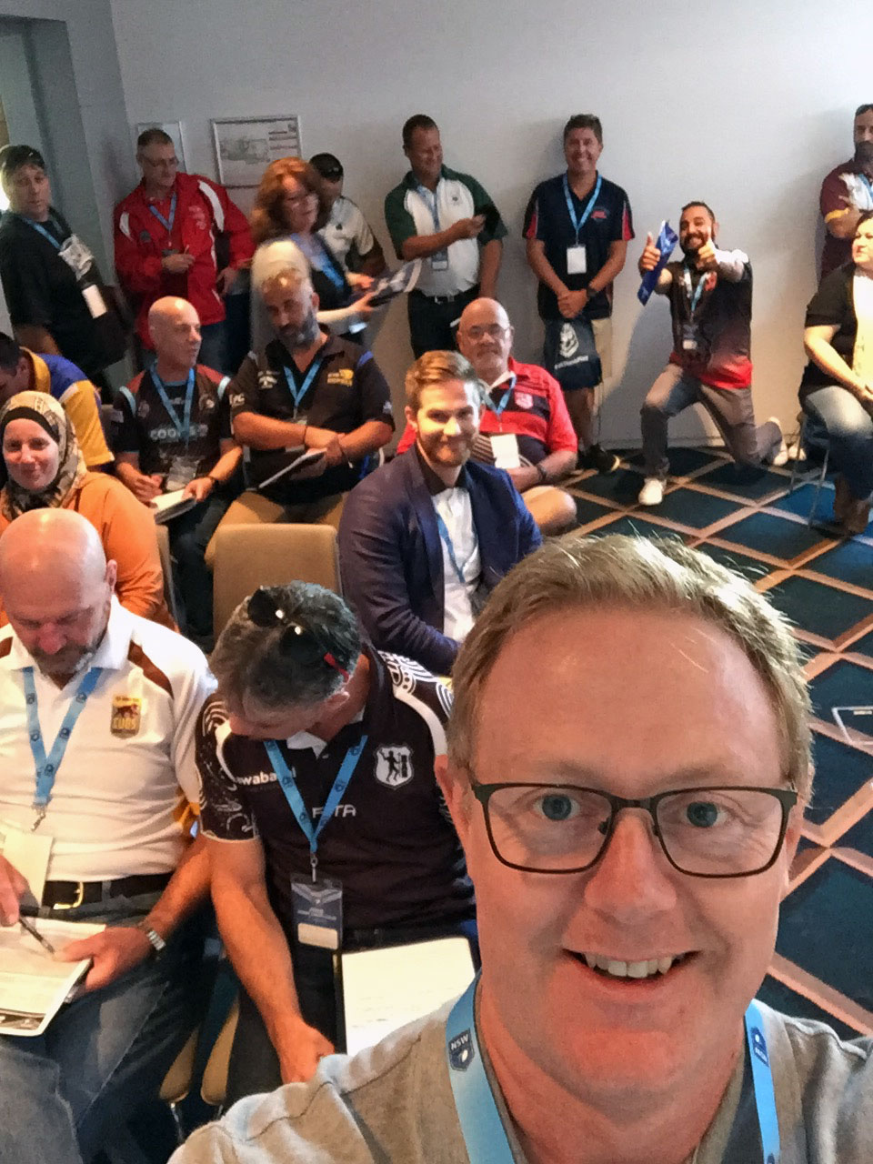 Digital workshop with club staff at NSWRL State Conference, Feb 2018.