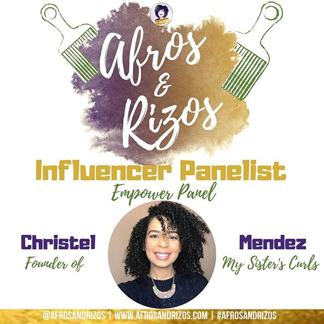 We are honored to introduce one of our Influencer Panelist! Here is @mysisterscurls ! She is the Founder of My Sister's Curls. We can't wait to have her grace us with her knowledge. - TICKET LINK IN BIO Date: July 20th 💜💛 - We are #afrosandrizos