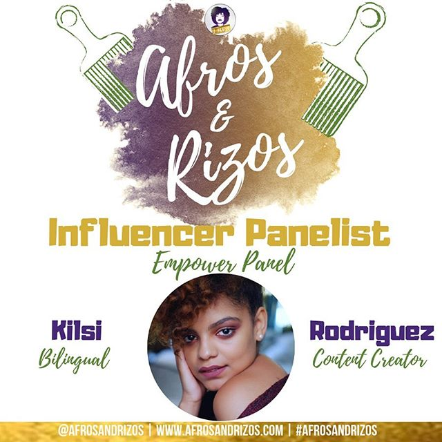 This year we will have our founder @le_frosie sit on the panel! She's is a bilingual content creator, event producer, coach and business teacher! We're so excited to hear from her! - TICKET LINK IN BIO July 20th 💜💛 - We are #afrosandrizos