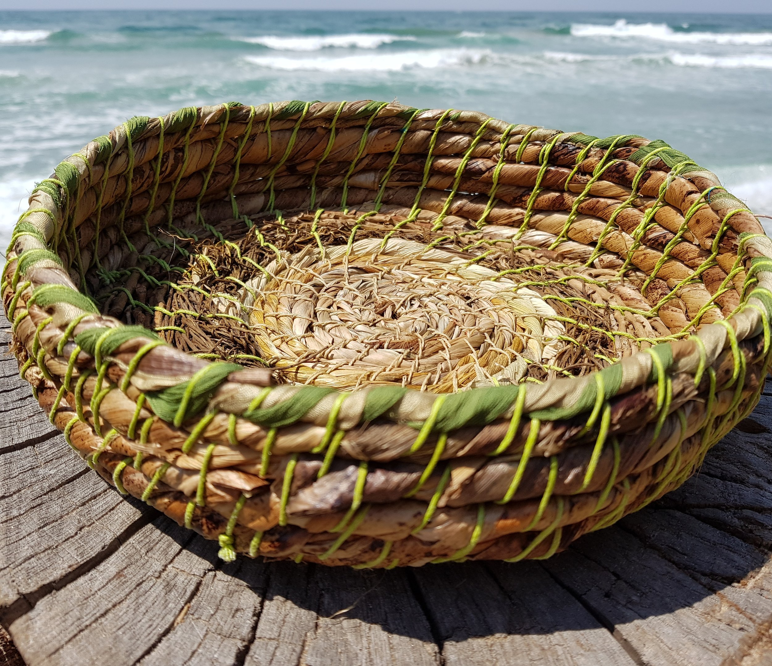 Stitched Basket - Make a Basket- Last minute gift making! Create a little handmade stitched basket using plant fibres, recycled materials, fabrics etc It may be too beautiful to part with!Fri. 21st Dec or Sat. 22nd Dec 2pm-5pm $80. All materials included. No experience necessary.
