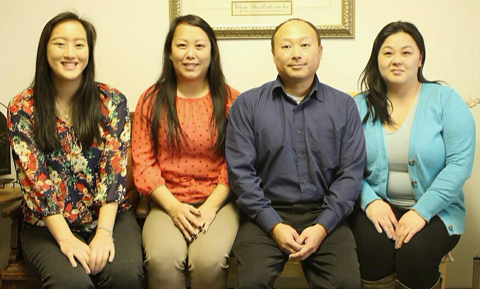 CHILDREN'S CHURCH STAFF: Leah Her, N. Chang Her (Kristy), Joe Her and N. Vam Lor (Mary)