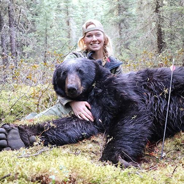 Jessica with Black Bear - 3 Rivers Adventures