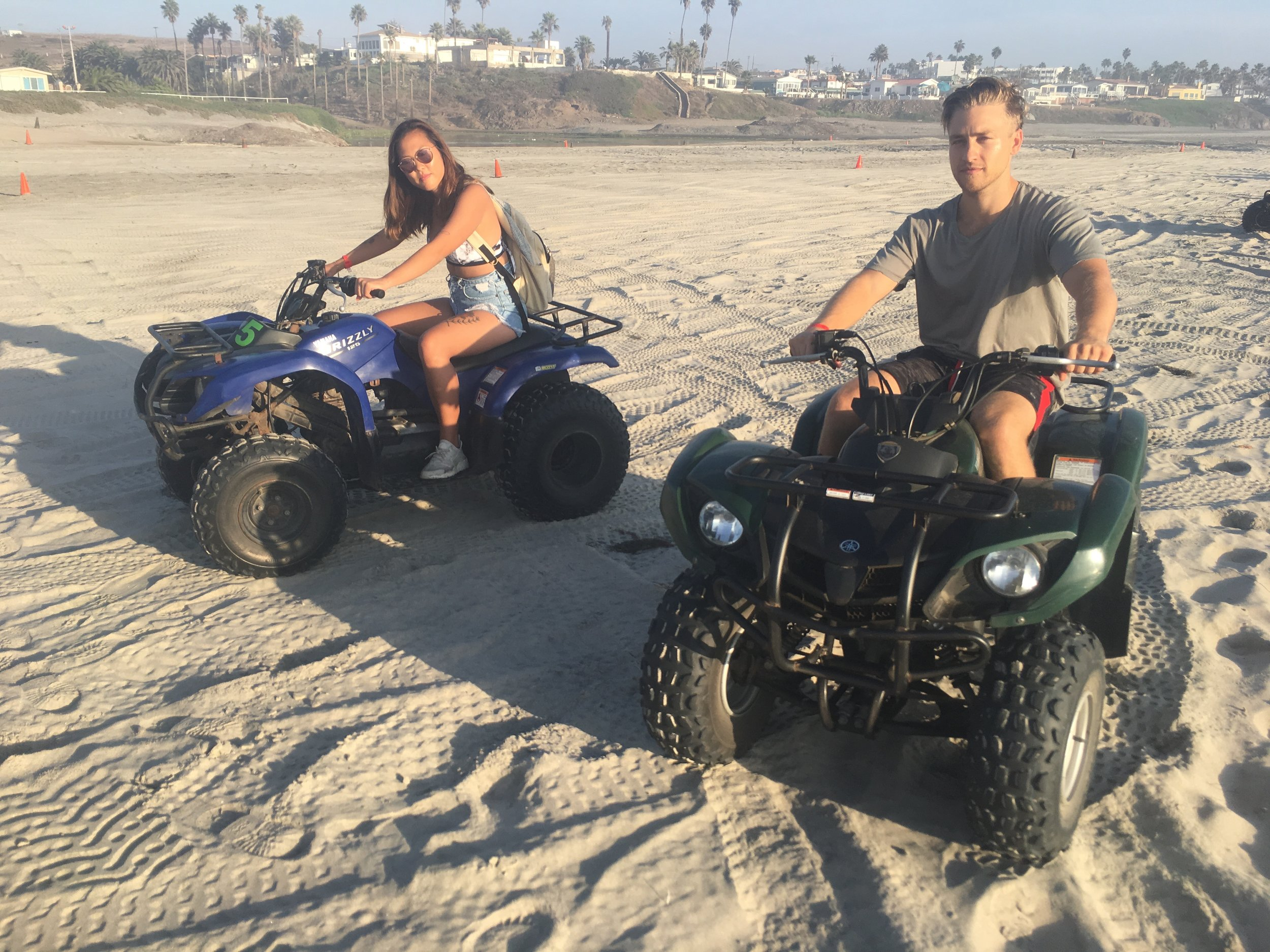 After our late lunch, we went to ride ATV's on the beach. I've never rode an ATV before! It was $20 for half an hour.