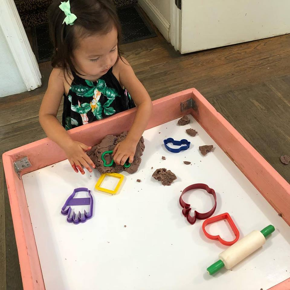 DID YOU KNOW?Play dough is great for developing fine motor skills! - Besides being super fun, play dough is a great sensory experience for small hands. After making play dough together at home, help your little one practice rolling, cutting, smashing and building with the dough!