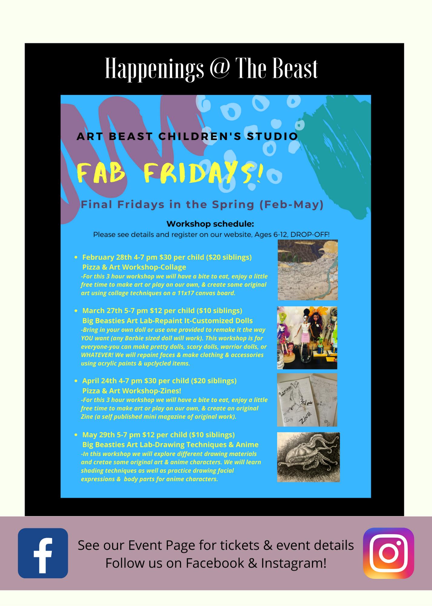 Beastie Blog Art Beast Children S Art Studio