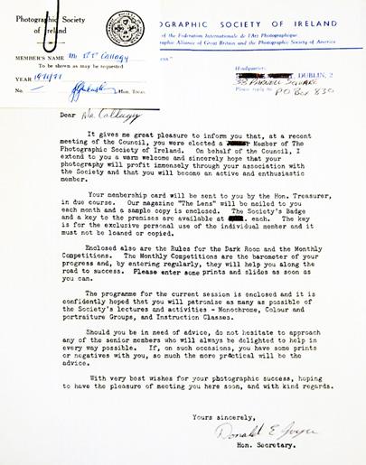 Original IPF Membership Letter